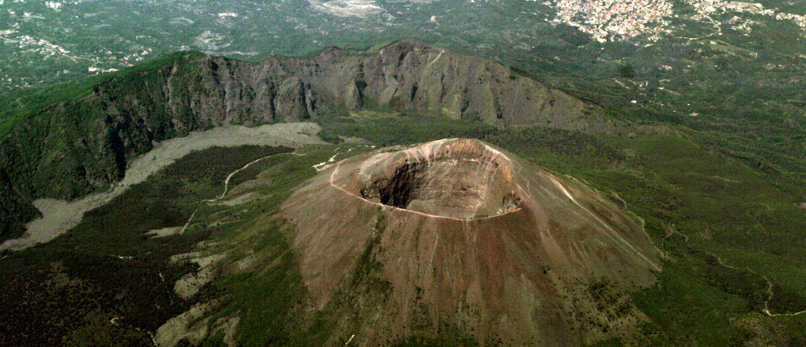 Visit the top of Vesuvius, the only active volcano in mainland