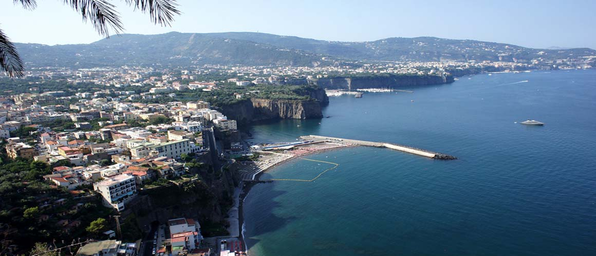Enchanting Sorrento, perched on a towering promontory overlooking the sea